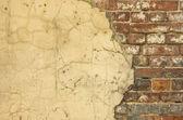 Parede de casa velha - bom fundo com espaço para texto — Fotografia Stock