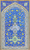 Tiled background, oriental ornaments from Isfahan Mosque, Iran — Foto de Stock