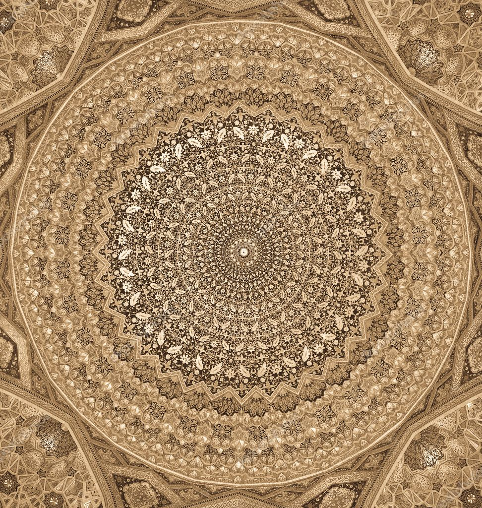 kuppel der moschee orientalische ornamente von samarkand. Black Bedroom Furniture Sets. Home Design Ideas