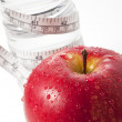 Apple and measuring tape — Stock Photo #9328556