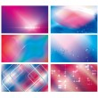 Abstract amazing blue, sky-blue & red vector background set — Stock Vector