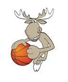 バスケット ボールのムース — ストックベクタ