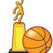 Stock Vector: Basketball Trophy