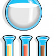 Beaker test tubes — Stock Vector