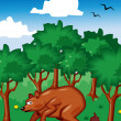 Bear Shit in the Woods — Stock Vector