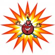 Stock Vector: Cherry Bomb Cartoon