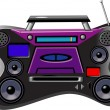 Stock Vector: Boombox Ghetto Blaster