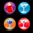Stock Vector: Alcoholic Beverage and Smoking Icons
