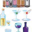 Stock Vector: Alcoholic Beverage Icons
