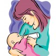 Mother Nursing — Stock Vector