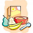 Cereal Bowl with Fruit — Stock Vector #10460559