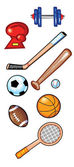 Sports Items — Stock Vector
