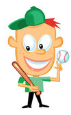 Baseball Kid Cartoon — Stock Vector