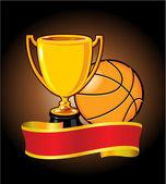 Basket trophy banner — Stockvektor