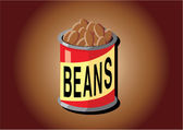 Can of Beans — Stock Vector