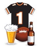Beer and Sports Jersey — Stock Vector