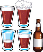 Beer Pint and Bottle — Stock Vector