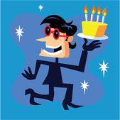 Happy Birthday Beatnik — Stock Vector