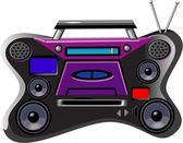 Boombox Ghetto Blaster — Stock Vector