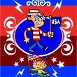 Patriotic Cartoon Characters — Stock Vector
