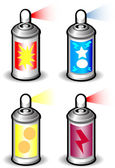 Aerosol Cans — Stock Vector