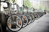 Bicycles on the streets of paris — Stock Photo