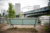 Bench along the Seine — Stock Photo