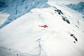 Rescue helicopter in the mountains — Stock Photo