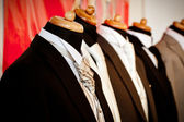 Men's wedding suit on a mannequin — Stock Photo