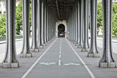 Bicycle route - paris france — Stock Photo
