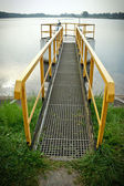 Bridge on the lake — Stock Photo
