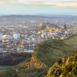 Edinburgh cityscape from Arthur's Seat - Stock Photo