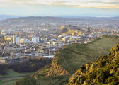 Edinburgh cityscape from Arthur's Seat — Stock Photo
