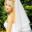 Woman in wedding dress - Stock Photo