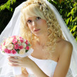 Woman in wedding dress — Stock Photo