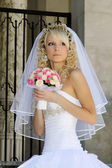 Woman in wedding dress — Foto de Stock