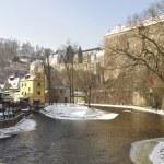 The historic city of Cesky Krumlov. — Stock Photo