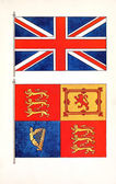 Union jack and royal standard flags — Stock Photo