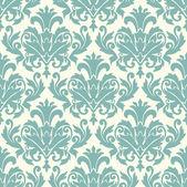 ダマスク織壁紙パターン シームレスなベクトル — ストックベクタ