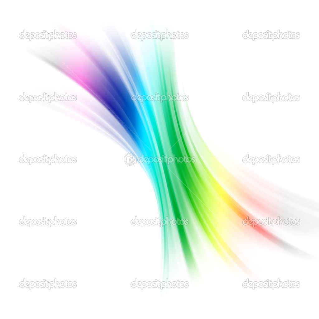 Colored abstract smoke wave on white background  Stock Photo #9864776