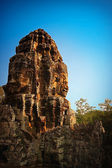 One of towers of Bayon in Angkor complex — Foto de Stock