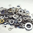Different size washers - Stock Photo