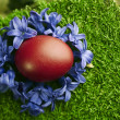 Stock Photo: Beautiful red Easter egg