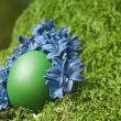 Stock Photo: Beautiful green Easter egg