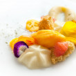 Creative citrus fruit dessert. — Stock Photo