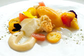 Close up of citrus fruit dessert. — Stock Photo