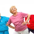Threesome senior women getting fit. — Stock Photo #10213001