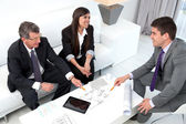 Business sharing ideas. — Stock Photo