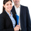 Portrait of office worker couple — Stock Photo