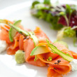Stock Photo: Smoked Salmon salad